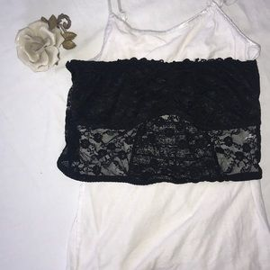 Other - Black strapless bandeau